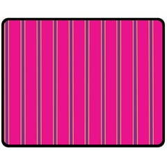 Pink Line Vertical Purple Yellow Fushia Fleece Blanket (medium)  by Mariart