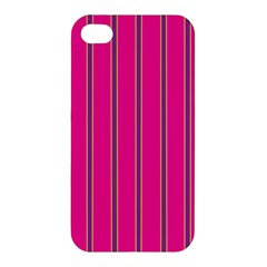 Pink Line Vertical Purple Yellow Fushia Apple Iphone 4/4s Premium Hardshell Case by Mariart