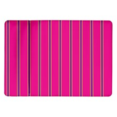 Pink Line Vertical Purple Yellow Fushia Samsung Galaxy Tab 10 1  P7500 Flip Case by Mariart