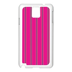 Pink Line Vertical Purple Yellow Fushia Samsung Galaxy Note 3 N9005 Case (white) by Mariart