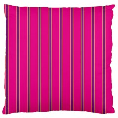 Pink Line Vertical Purple Yellow Fushia Standard Flano Cushion Case (one Side) by Mariart