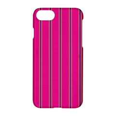 Pink Line Vertical Purple Yellow Fushia Apple Iphone 7 Hardshell Case by Mariart