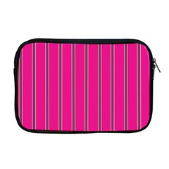 Pink Line Vertical Purple Yellow Fushia Apple Macbook Pro 17  Zipper Case