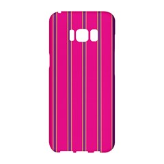 Pink Line Vertical Purple Yellow Fushia Samsung Galaxy S8 Hardshell Case  by Mariart