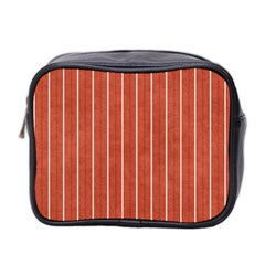 Line Vertical Orange Mini Toiletries Bag 2 Side by Mariart