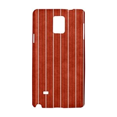 Line Vertical Orange Samsung Galaxy Note 4 Hardshell Case by Mariart