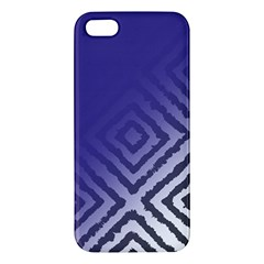 Plaid Blue White Apple Iphone 5 Premium Hardshell Case by Mariart