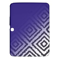 Plaid Blue White Samsung Galaxy Tab 3 (10 1 ) P5200 Hardshell Case