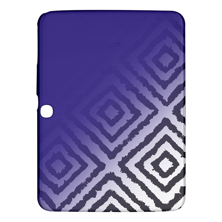 Plaid Blue White Samsung Galaxy Tab 3 (10.1 ) P5200 Hardshell Case