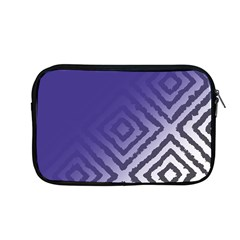 Plaid Blue White Apple Macbook Pro 13  Zipper Case by Mariart
