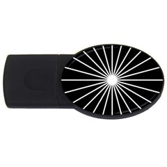 Ray White Black Line Space Usb Flash Drive Oval (4 Gb) by Mariart