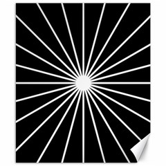 Ray White Black Line Space Canvas 8  X 10  by Mariart