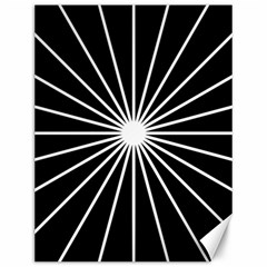 Ray White Black Line Space Canvas 12  X 16   by Mariart