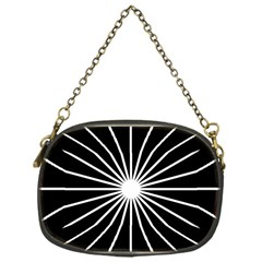 Ray White Black Line Space Chain Purses (one Side)  by Mariart