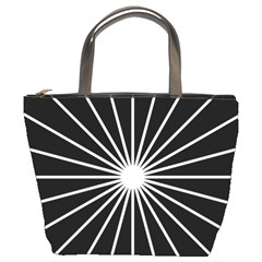 Ray White Black Line Space Bucket Bags by Mariart