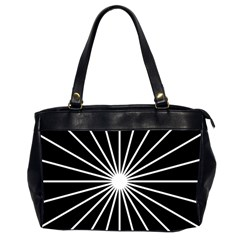 Ray White Black Line Space Office Handbags (2 Sides)  by Mariart