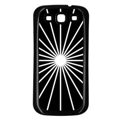 Ray White Black Line Space Samsung Galaxy S3 Back Case (black) by Mariart