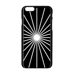 Ray White Black Line Space Apple Iphone 6/6s Black Enamel Case by Mariart