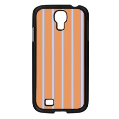 Rayures Bleu Orange Samsung Galaxy S4 I9500/ I9505 Case (black) by Mariart