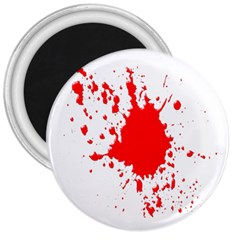 Red Blood Splatter 3  Magnets by Mariart