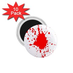 Red Blood Splatter 1 75  Magnets (10 Pack)  by Mariart