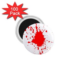 Red Blood Splatter 1 75  Magnets (100 Pack)  by Mariart