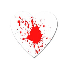 Red Blood Splatter Heart Magnet by Mariart