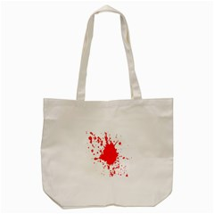 Red Blood Splatter Tote Bag (cream) by Mariart