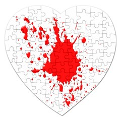 Red Blood Splatter Jigsaw Puzzle (heart) by Mariart