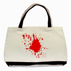 Red Blood Splatter Basic Tote Bag by Mariart