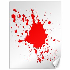 Red Blood Splatter Canvas 36  X 48   by Mariart