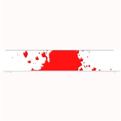 Red Blood Splatter Small Bar Mats by Mariart