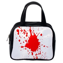 Red Blood Splatter Classic Handbags (one Side) by Mariart