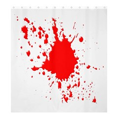 Red Blood Splatter Shower Curtain 66  X 72  (large)  by Mariart