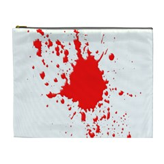 Red Blood Splatter Cosmetic Bag (xl)