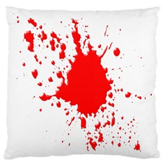 Red Blood Splatter Large Cushion Case (one Side) by Mariart
