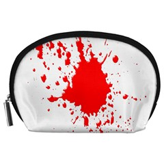 Red Blood Splatter Accessory Pouches (large)  by Mariart
