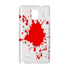 Red Blood Splatter Samsung Galaxy Note 4 Hardshell Case by Mariart