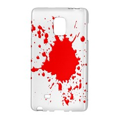 Red Blood Splatter Galaxy Note Edge by Mariart
