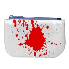Red Blood Splatter Large Coin Purse
