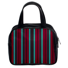 Red Blue Line Vertical Classic Handbags (2 Sides) by Mariart