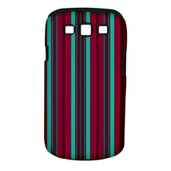 Red Blue Line Vertical Samsung Galaxy S Iii Classic Hardshell Case (pc+silicone) by Mariart