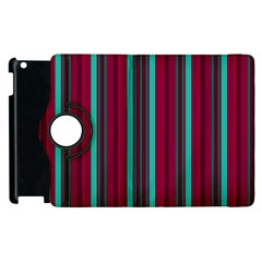 Red Blue Line Vertical Apple Ipad 3/4 Flip 360 Case by Mariart