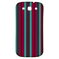 Red Blue Line Vertical Samsung Galaxy S3 S Iii Classic Hardshell Back Case by Mariart