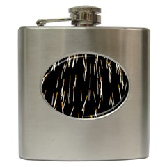 Rain Cigarettes Transparent Background Motion Angle Hip Flask (6 Oz) by Mariart