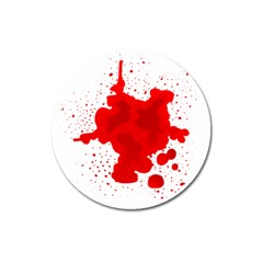 Red Blood Transparent Magnet 3  (round) by Mariart