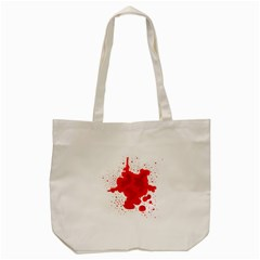 Red Blood Transparent Tote Bag (cream) by Mariart