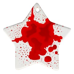 Red Blood Transparent Star Ornament (two Sides) by Mariart