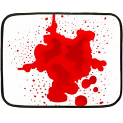 Red Blood Transparent Fleece Blanket (mini) by Mariart