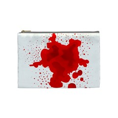 Red Blood Transparent Cosmetic Bag (medium)  by Mariart